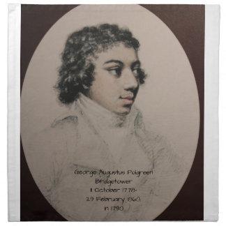 ジョージAugustus Polgreen Bridgetower 1790年 ナプキンクロス