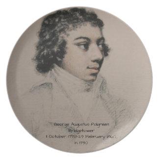ジョージAugustus Polgreen Bridgetower 1790年 プレート