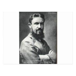 ジョージBショウの口論か繁殖の知恵の引用文のギフト ポストカード