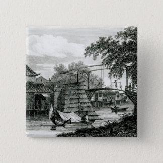 ジョージCookeが刻むマラッカの可動橋 5.1cm 正方形バッジ