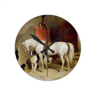 ジョージFavourites (キャンバスの油)王子の ラウンド壁時計