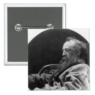 ジョージFrederickのワットのポートレート 5.1cm 正方形バッジ