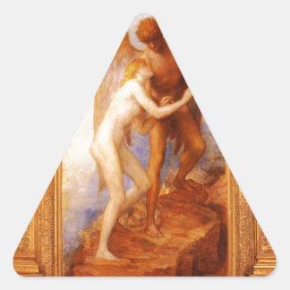 ジョージFrederickのワット愛そして生命 三角形シール