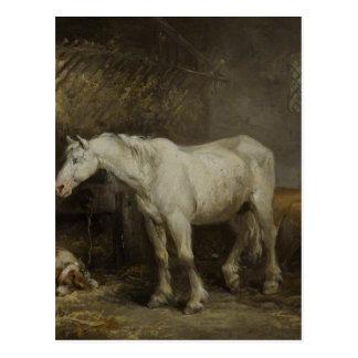 ジョージMorland著馬小屋の馬そして犬 ポストカード