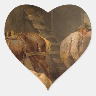 ジョージMorland著馬小屋の馬 ハートシール