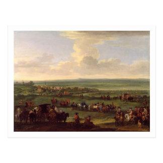 ジョージNewmarketの(1660-1727年) 10月I日、第4または5日 ポストカード