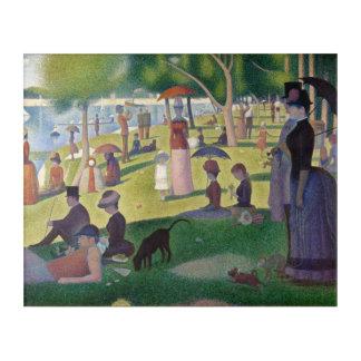ジョージSEURAT -日曜日の午後1884年 アクリルウォールアート