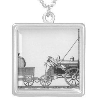 ジョージStephenson機関車、「ロケット」、1829年 シルバープレートネックレス