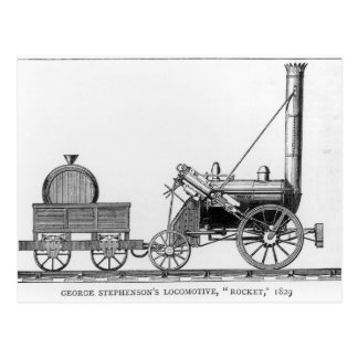 ジョージStephenson機関車、「ロケット」、1829年 ポストカード