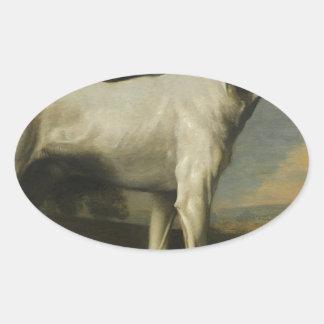 ジョージStubbs著Gormanston's White Dog子爵の 楕円形シール