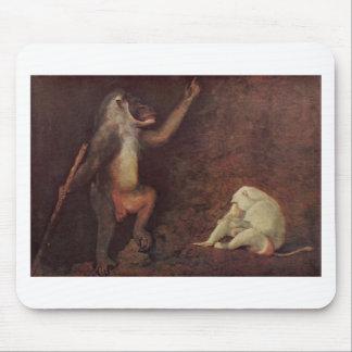 ジョージStubbs著Pavianおよび白子Makake マウスパッド