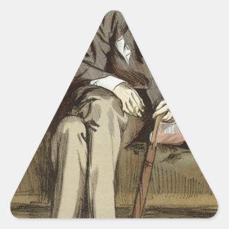 ジョージWhyte MelvilleジェームスTissotの風刺漫画 三角形シール