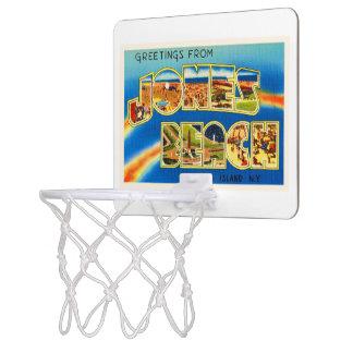 ジョーンズのビーチのニューヨークNYのヴィンテージ旅行記念品 ミニバスケットボールゴール