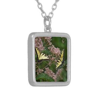 ジョーPyeの雑草のトラのアゲハチョウの蝶 シルバープレートネックレス