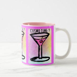 ジル著COSMOの時間パステル調のプリント ツートーンマグカップ