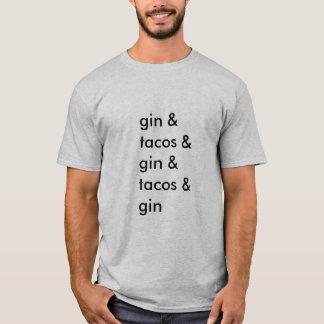 ジンおよびタコスのTシャツ(基本人) Tシャツ