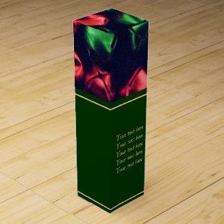 ジングルのずっと赤い及び緑のワイン用化粧箱 ワインギフトボックス