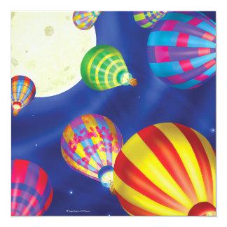 ジングルのジングル少し格言の気球の招待状 カード