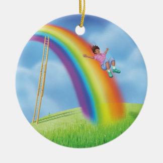ジングルのジングル少し格言の虹のスライドのオーナメント セラミックオーナメント