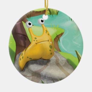 ジングルのジングルSlug Ornament少し格言の氏 セラミックオーナメント