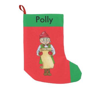 """ジングルの小妖精や小人、""""アルフレッド""""のクリスマスのストッキング スモールクリスマスストッキング"""