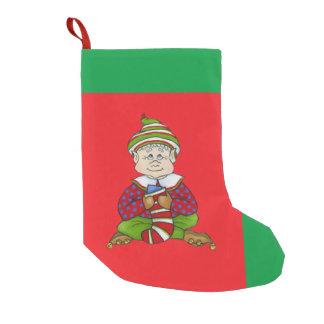 """ジングルの小妖精や小人、""""ステッチ""""のクリスマスのストッキング スモールクリスマスストッキング"""
