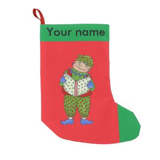 """ジングルの小妖精や小人、""""Woody""""のクリスマスのストッキング スモールクリスマスストッキング"""