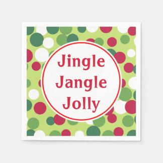 ジングルはすてきなクリスマスのナプキンをジャンジャン鳴らします スタンダードカクテルナプキン