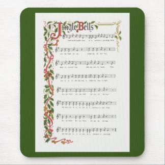 ジングルベルの楽譜 マウスパッド