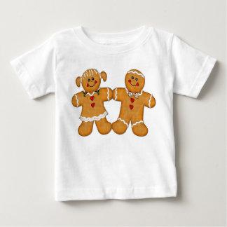ジンジャーブレッドのおもしろいのカップル ベビーTシャツ
