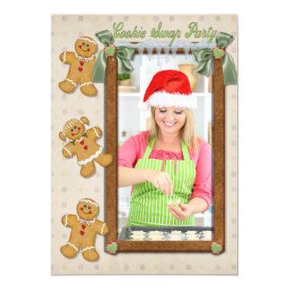 ジンジャーブレッドのおもしろいのクッキー交換招待2 カード