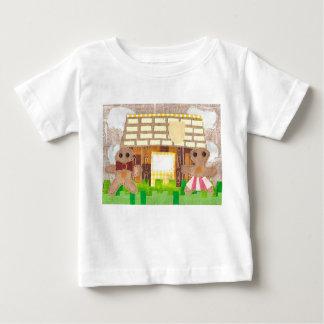 ジンジャーブレッドのカップルのベビーのTシャツ ベビーTシャツ