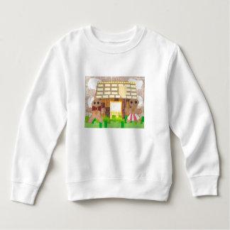 ジンジャーブレッドのカップルの幼児のジャンパー スウェットシャツ