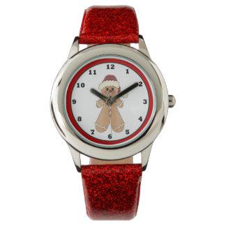 ジンジャーブレッドのクッキーの休日のクリスマスの腕時計 腕時計