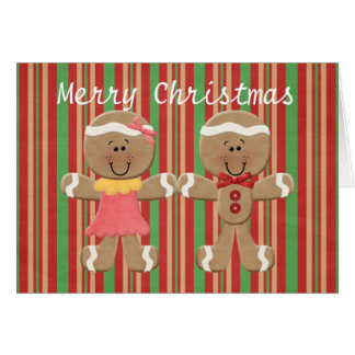 ジンジャーブレッドのクッキーの挨拶状 カード