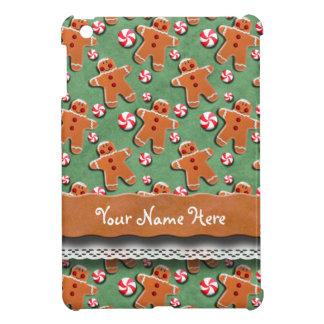 ジンジャーブレッドのクッキーキャンデーの緑 iPad MINIケース