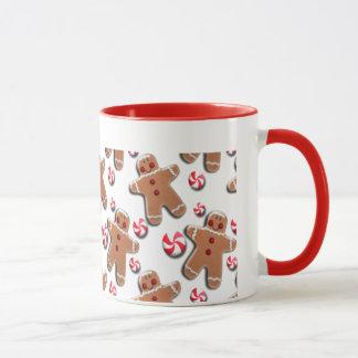 ジンジャーブレッドのクッキーキャンデー マグカップ