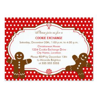 ジンジャーブレッドのクッキー交換パーティの招待状 カード
