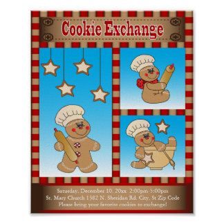 ジンジャーブレッドのクッキー交換収集は|カスタマイズ ポスター