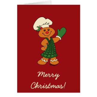 ジンジャーブレッドのクッキー カード