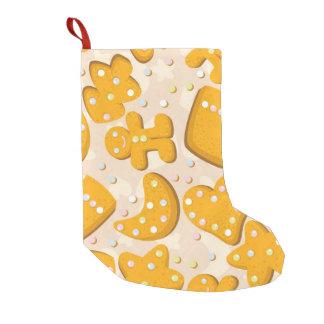 ジンジャーブレッドのクッキー スモールクリスマスストッキング