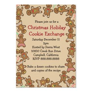 ジンジャーブレッドのクリスマスの休日のクッキー交換 カード