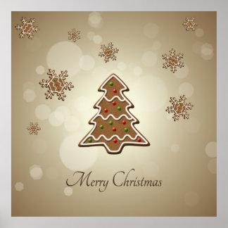 ジンジャーブレッドのクリスマスツリー-ポスター ポスター