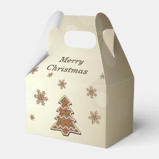 ジンジャーブレッドのクリスマスツリー-好意箱の切り妻 フェイバーボックス