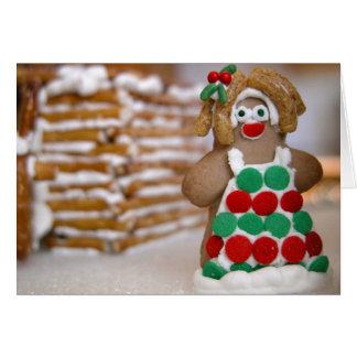 ジンジャーブレッドのクリスマス カード