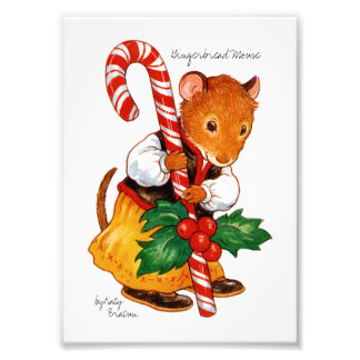 ジンジャーブレッドのマウス フォトプリント