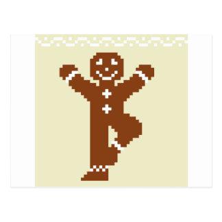 ジンジャーブレッドのヨガの木Asana ポストカード