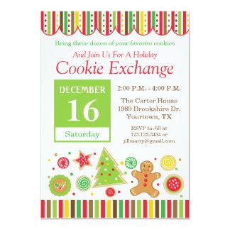 ジンジャーブレッドの休日のクッキー交換招待状 カード