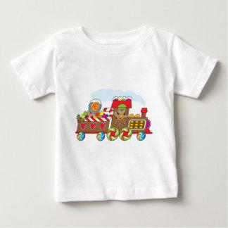 ジンジャーブレッドの列車 ベビーTシャツ