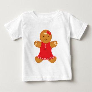 ジンジャーブレッドの女の子 ベビーTシャツ